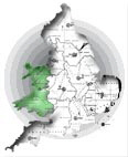 DOT Map Bridgend Region