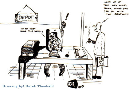 Depot Cartoon