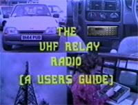 Thames Valley Police VHF Relay Radio Guide
